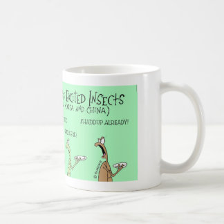 Feast of excited insects basic white mug