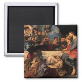 Feast of Simon & Mary Magdalene at Jesus' feet Square Magnet
