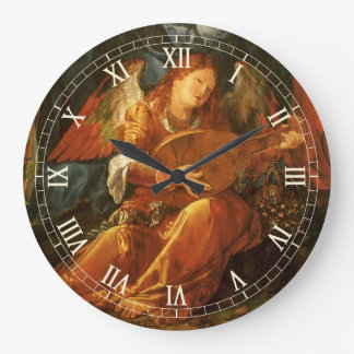 Feast of the Rose Garlands Angel by Albrecht Durer Large Clock