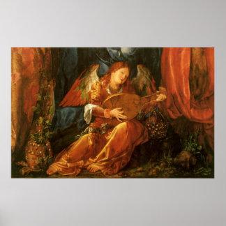 Feast of the Rose Garlands Angel by Albrecht Durer Poster