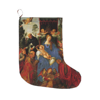 Feast of the Rose Garlands Christmas Large Christmas Stocking