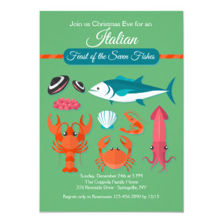 Feast of the Seven Fishes Invitation