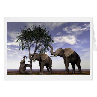 Feast or Famine-Elephants - Customized Card