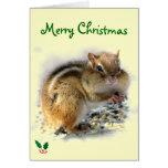 Feasting Chipmunk Christmas