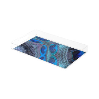 Feather Abstract Acrylic Tray