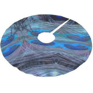 Feather Abstract Brushed Polyester Tree Skirt
