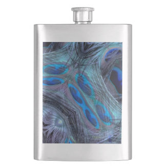 Feather Abstract Hip Flask