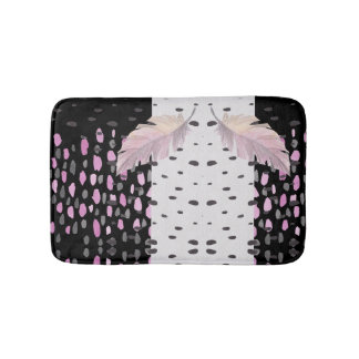 Feather and Dots Bath Mat