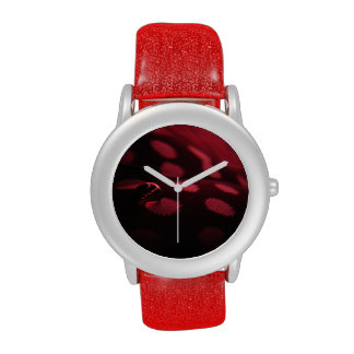 feather and droplet red watch