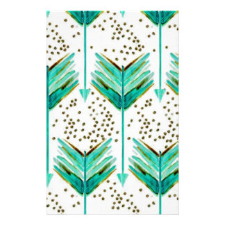 Feather Arrows Stationery Paper