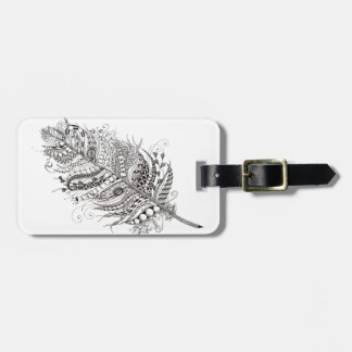 Feather baggage label luggage tag