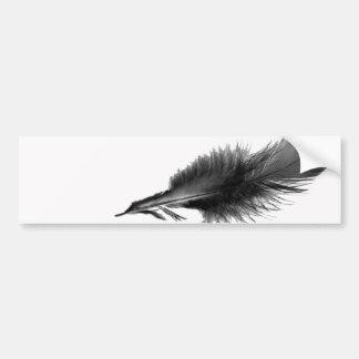 Feather Black Bumper Sticker
