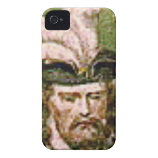 feather capped bearded man Case-Mate iPhone 4 case