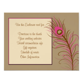 Feather Enclosure Card 11 Cm X 14 Cm Invitation Card