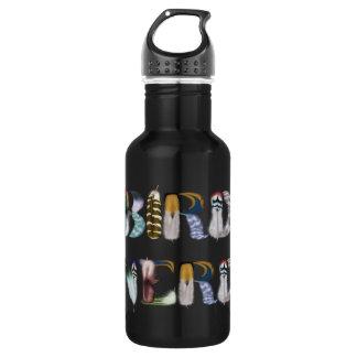 Feather Font: Bird Nerd 532 Ml Water Bottle