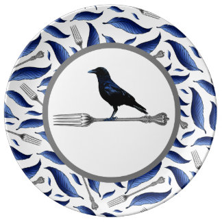 Feather, Fork, Bird Decorative Plate