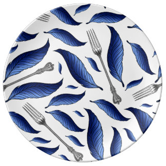 Feather & Fork  Decorative Plate