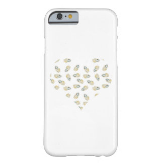 Feather heart design barely there iPhone 6 case