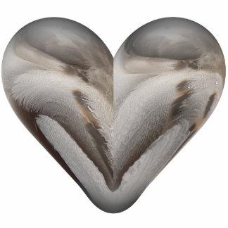 feather heart photo sculpture decoration