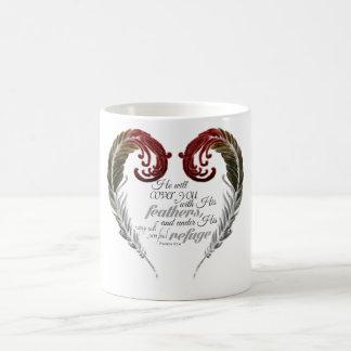 Feather Heart Scripture Mug
