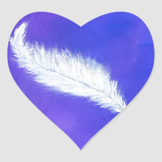Feather Heart Sticker