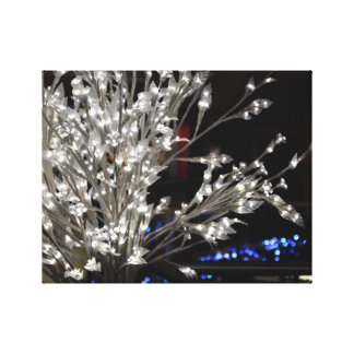 Feather Light Tree at Night Canvas Print