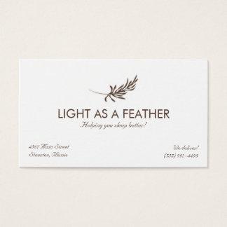 Feather Logo Design Business Card