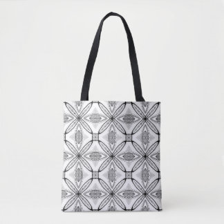 Feather Mandala Design with Transparent Background Tote Bag