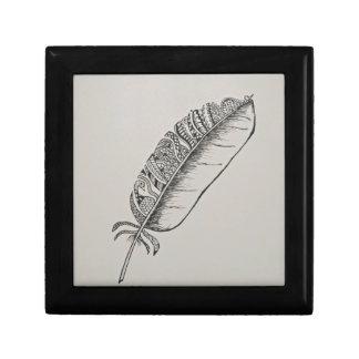 Feather mandala gift box