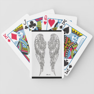 Feather of angel bicycle playing cards