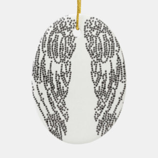 Feather of angel ceramic ornament
