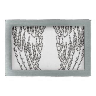 Feather of angel rectangular belt buckle