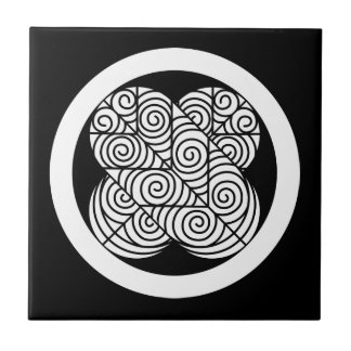 Feather of Asano 鷹 Ceramic Tile