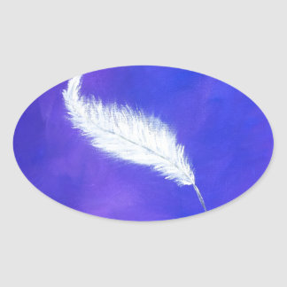 Feather Oval Sticker