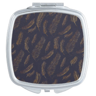 Feather Pattern Vanity Mirror