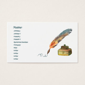 Feather Pen Business Card