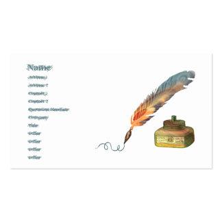 Feather Pen Standard Business Card Business Card Template