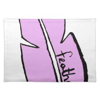 feather pink placemat