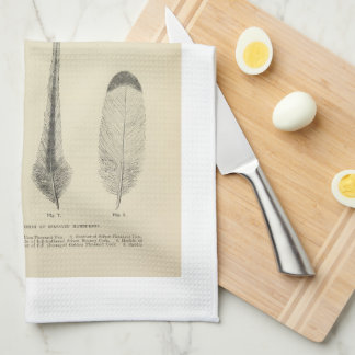 Feather Print - Poultry - Vintage Farmhouse Tea Towel