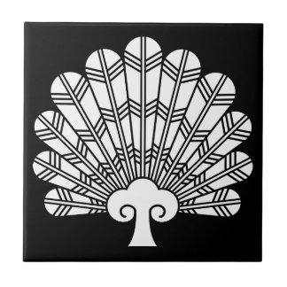 Feather round fan of 鷹 tile