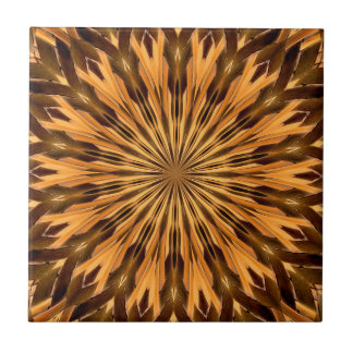 Feather Shield Medallion Small Square Tile
