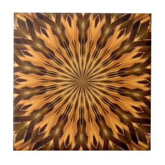 Feather Shield Medallion Tile