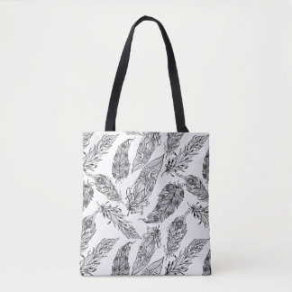 Feather Swirl Doodle 2 Tote Bag