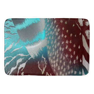 Feather Texture Template Bath Mat