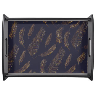 Feather Themed Serving Tray