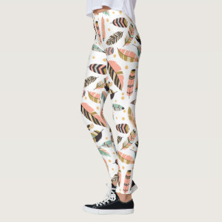 Feather Tickle Pattern Leggings