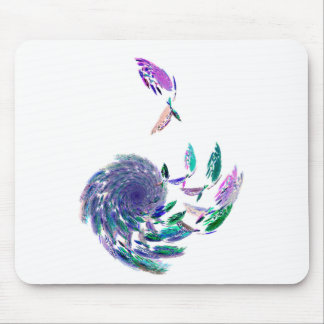Feather tunnel mouse pad