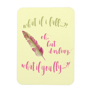 What If I Fall Quote Gifts On Zazzle Au