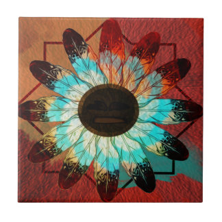 Feather Wheel Ceramic Tile