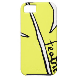 feather yellow iPhone 5 cover